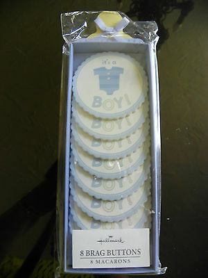 Baby Birth Announcements Boy Buttons NEW
