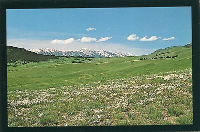 Bozeman, Montana, Bozeman Pass with View of Bridger Range, Unused Postcard,VGC+