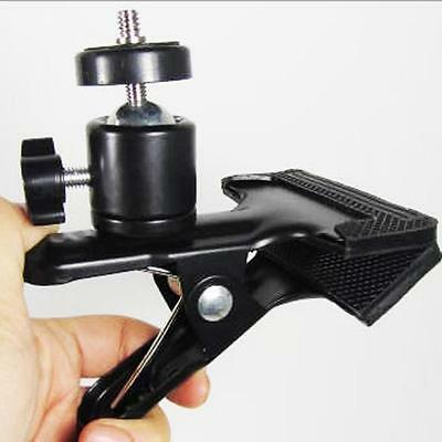Hot Spring Clamp Clip & Ball Head For Photo Studio Camera Flash Light Stand J