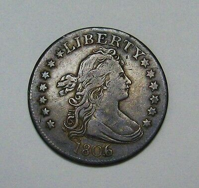 Gorgeous 1806/5 Browning 1 Draped Bust Quarter Grading VF Great Rare Type Coin