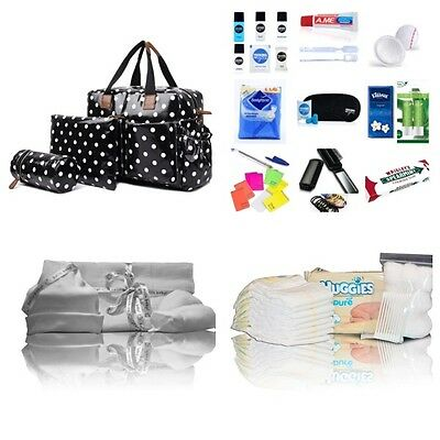 Black 4-pc baby changing pre-packed hospital maternity bag Mum&Baby - NEXT DAY