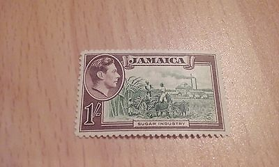 1938 Jamaica 1/- Brown & Green (SG 130) - Very Lightly Mounted