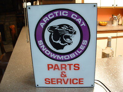 Arctic Cat snowmobile lighted service sign