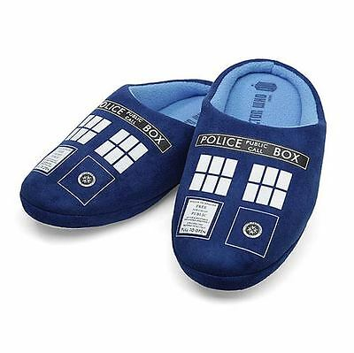 Doctor Who TARDIS Mens Slippers Large US 10