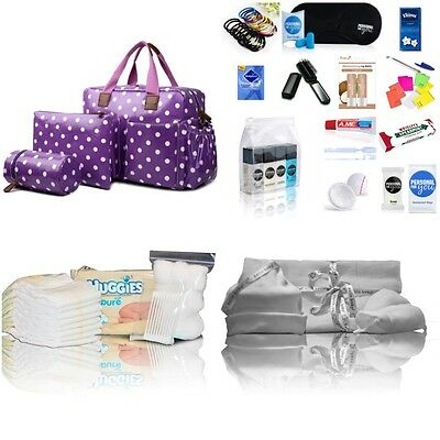 Purple 4-pc baby changing pre-packed hospital maternity bag Mum&Baby - NEXT DAY
