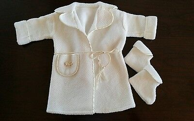 Vintage Infant Baby Girl or Doll Doggie Coat Sweater Outerwear & Booties~ Sweet
