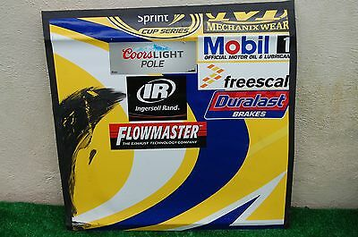 Sam Hornish Jr #9 TWISTED TEA  NASCAR RACE USED Contingency Panel Sheet Metal