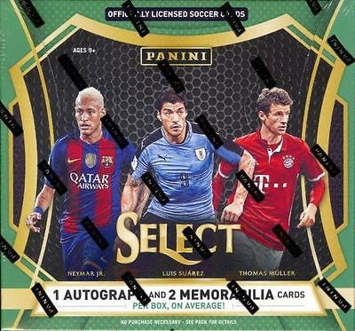 2016 Panini Select Soccer Factory Sealed Hobby Box