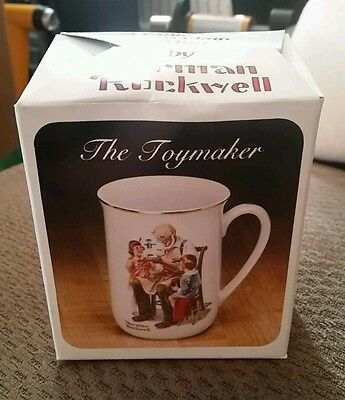 The Toymaker Norman Rockwell porcelain mug