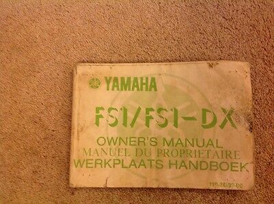 Yamaha FS1/FS1-DX Owners Manual