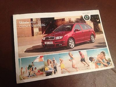 Skoda Fabia Handbook Owners Manual  2004 2007  Hatchback & Estate