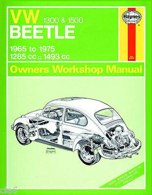 Volkswagen VW Beetle 1300 and 1500 Workshop Service & Repair Manual 1965-75 *NEW