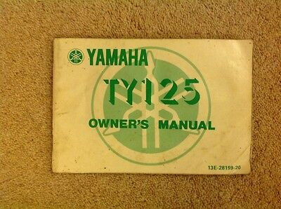 yamaha TY125 Owners Manual