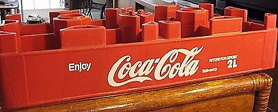 Vintage  Red Coca Cola  Plastic 2 Liter Bottle  Carrier Case For 8 Bottles Crate