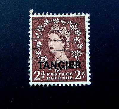 British Offices in Morocco 1950's Queen Elizabeth  SG326  Cancelled