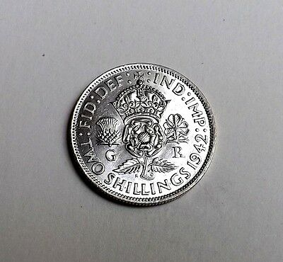 George V1 1942 Two-Shilling Unc Very Nice Rare Coin