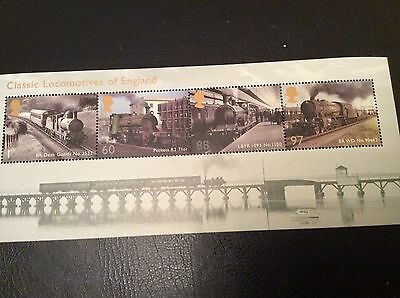 Gb Stamps Mini Sheets Mint Unmounted Classic Locomotives Of England