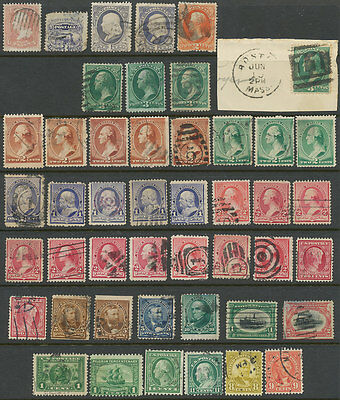 United States, Used lot of 46 old Stamps. Please see the description.