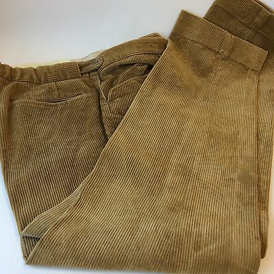 "brown  country thick corduroy trousers size 42"" john brocklehurst"