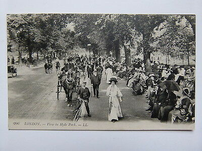 Vintage Postcard - London - View In Hyde Park