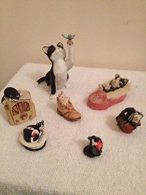 Collection Of Mixed Cat Ornaments Including Peter Fagan