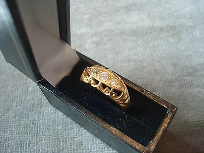 LADIES .750 18CT YELLOW GOLD DIAMOND RING 3g SIZE O BOXED REF 6901