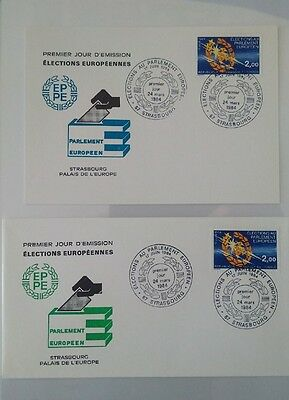 Strasbourg - Elections Europeennes 1984 - Fdc + Carte Maximum