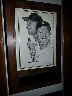 autographed limited-edition Mickey Mantle plaque