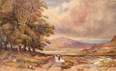 "Victorian Scrapbook (parlor book) ""A peep of Grasmere from Kesiwick"" watercolour"