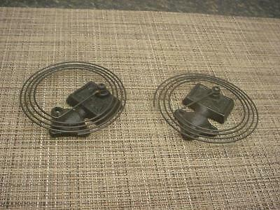 Lot 2 Mantle Clock  Coil Wire Vintage Replacement Coils and Gong Bases D566k