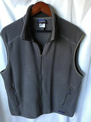 Patagonia Synchilla Men's Solid Gray Full Zip Fleece Vest Extra Large XL