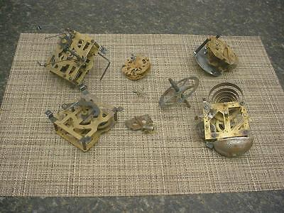 Clockmaker Lot of Alarm / Cuckoo Brass Movements Parts Gears SteamPunk D258