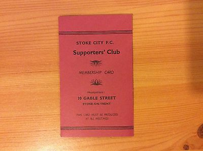 1963/4 Stoke City Supporters Club Membership Card