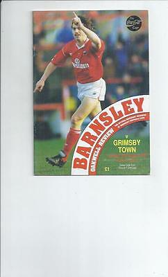 Barnsley v Grimsby Town Coca Cola Football Programmes 1992/93