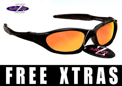 Rayzor UV400 Ski Skiing Cycling Cricket Golf Sports Wrap Sunglasses RRP£49 (Q)