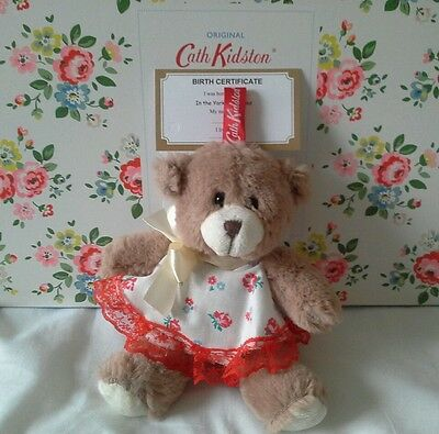 CATH KIDSTON dressed  TEDDY BEAR with birth certificate