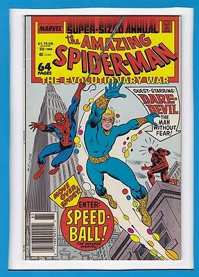 "Amazing Spider-Man Annual #22_1988_Very Fine+_Daredevil_""enter...speedball""!"