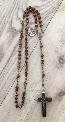 Small, vintage, Italian, rosary with medal