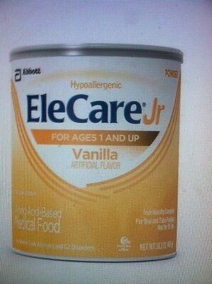 Elecare Jr Vanilla- 1 factory sealed case (6 cans) -FAST FREE SHIPPING!!!!