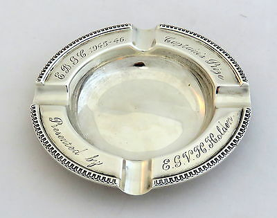 Great Quality Solid Silver Eastbourne Golf Club Ashtray 1920
