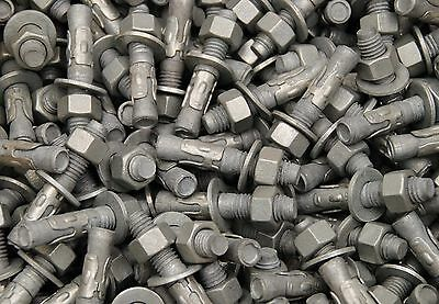 (30) Galvanized Concrete Wedge Anchor Bolts 1/2 x 2-3/4 Includes Nuts & Washers