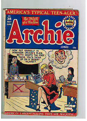 ARCHIE COMICS No. 38 from 1949