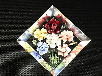 Beautiful Vintage Lucite Flower Brooch 1930's 1940s Stunning Art Deco Brooch