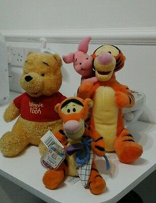 winnie the pooh and tiger soft toys