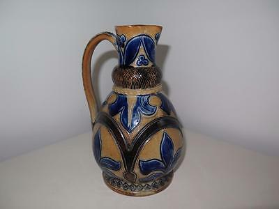 A Lovely 19Th C British Art Pottery Saltglazed Jug. Martin Bros Lambeth Fulham.