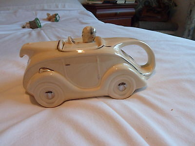 Novelty Racing Car Teapot, Made in England, probably 1950's.