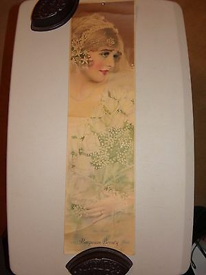 """Antique Print Ad """"The Bride"""" for Pompeian Products 1927"""