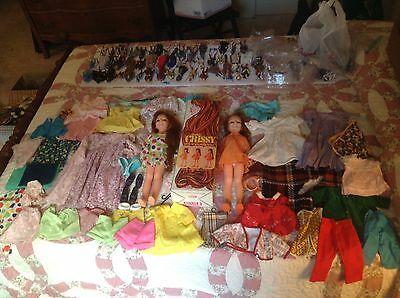 Huge Lot Vintage Ideal 2 Grow Hair Crissy Dolls & Clothes & Accessories doll