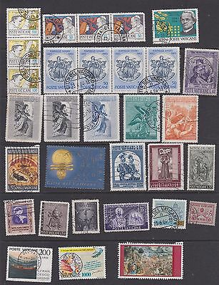 Stamps Vatican used 2 pages