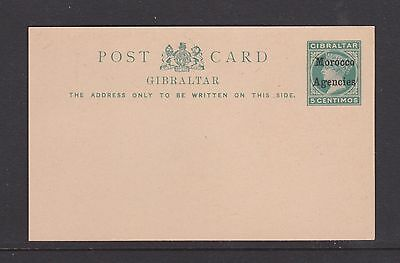Prepaid early reply postcard Morocco Agencies O/P on Gibraltar Victoria unused
